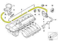 BMW E46 Secondary Air Pump Vacuum Line 11727574490
