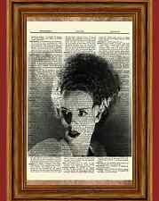 Bride of Frankenstein Dictionary Art Print Poster Elsa Lanchester Picture