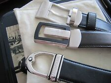Montblanc Leather Belt heads with leather belt - pick one - comes with box