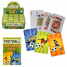 10 packs Mini football playing cards, Ideal for Birthday Party loot bags