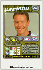 2002 AFL Teamcoach Gold Trading Card #211 Brenton Sanderson (Geelgong)