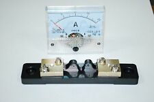 1×DC 20A Analog Panel AMP Current Meter + Current Shunt 85C1 Ammeter Gauge A435