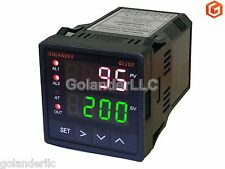 Dual Display Digital PID F/C Temperature Controller with 2 Alarm Relays