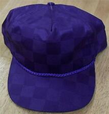 90's hat Checkered pattern vintage zipback hat HIP HOP cap RaRe break dance hat