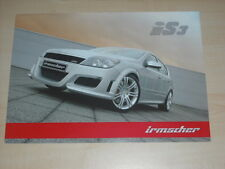 55236) Opel Astra iS3 Irmscher Prospekt 11/2004