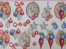 A4 3D Paper Tole Christmas Decorations Baubles 3 Pictures NEW