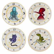 Disney Store Alice in Wonderland 4pc Plate Set Cheshire Cat White Rabbit Queen