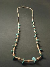 VINTAGE Navajo KINGMAN TURQUOISE AND HEISHI Necklace Old pawn jewelry