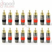 16x Monster, Quality Gold Plated RCA Phono Plugs Audio / Video Solder Connector