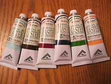 SET OF 6 PCS FERRARIO OIL MASTER  OIL COLOURS  60ML (MADE IN ITALY) Lot #3