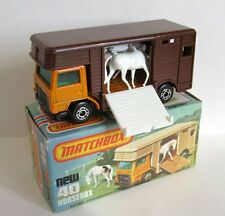 Matchbox Superfast 40b Horse Box - White Door - Mint/Boxed