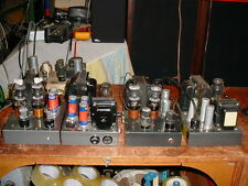 Pair of  Stancor 2 Chassis Mono Tube Amplifiers use 807 Output Tubes
