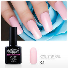 One Step Gel Nail Polish  UV LED Manicure NO Need Top Base Coat 3 in One Lacquer