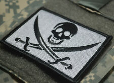 USMC FORCE RECON SNIPER OPERATOR PENCIL VELCRO TABS: PIRATE CALICO JACK SILVER