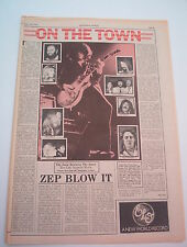LED ZEPPELIN 'BLOW IT' MOVIE REVIEW 1976 UK  ARTICLE / clipping