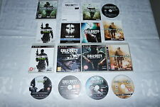 PS3 Paquete De Juegos Call Of Duty 5 COD GHOSTS MW2 MW3 4 Negro Ops