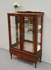 Lovely Reproduction Cabriole Leg Display Cabinet * China Cabinet