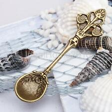 10pcs Spoon Charm Necklace Bracelet Pendant Craft DIY Decoration Bronze-tone