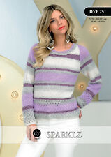 DY Choice Pull Dames Scintillant DK Fil Couture Motif DYP251