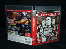 SLEEPING DOGS  (SONY PS3 ESSENTIALS GAME, MA 15+) (BOOKLET INCLUDED)
