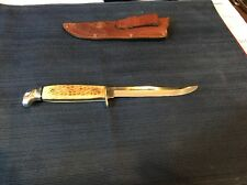 CASE XX USA 1965-1969 STAG FIXED BLADE HUNTING SKINNING KNIFE