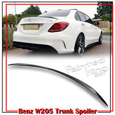 Painted Mercedes BENZ C-Class W205 4DR C63 C180 A Style Trunk Spoiler 14-16
