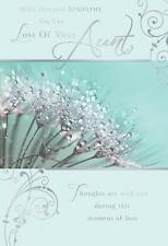 With Deepest Sympathy On The Loss Of Your Aunt Flower & Dew Design Card