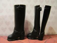 MATTEL BARBIE FITS SILKSTONE & MODEL MUSE BLACK HARLEY DAVIDSON SNAP ON BOOTS