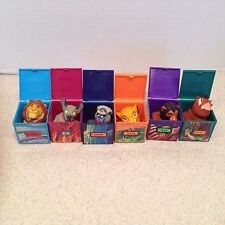Complete Set Of 6 LION KING FINGER PUPPETS. Burger King Kids Club HAPPY MEAL TOY