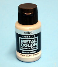 Vallejo Acrylic CHROME METAL COLOR 77.707 Airbrush Colors Hobby Paint 32ml NEW!