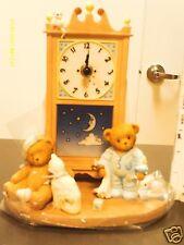 Cherished Teddies ` JENNI & DEAN  Musical Grandfather clock- Hickory Dickory Doc