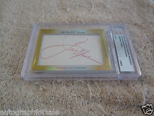 Jack Nicklaus Annika Sorenstam 2014 Leaf Masterpiece Cut Signature auto card 1/1