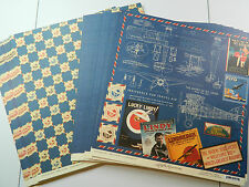 Graphic 45 Scrapbook Paper 12x12 Meet Me In St. Louis, Lot of 50 Double Sided