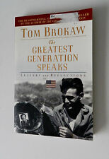 Tom Brokaw The Greatest Generation Speaks Letters & Reflections Trade Size