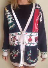 That's Me! Womens XL Mens Ugly Christmas Sweater Cardigan Tree Bear Present