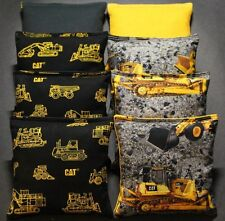 Caterpillar Dozer Cornhole Bean Bags ACA Regulation Corn Hole Shot Toss Game