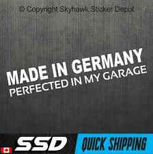Made In Germany Vinyl Bumper Sticker Decal German Car Hatchback Fits BMW Benz