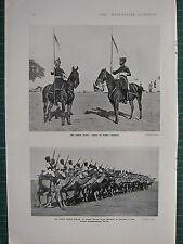 1914 WWI WW1 PRINT ~ INDIAN ARMY LANCERS ~ CAMEL CORPS FROM BIKANER