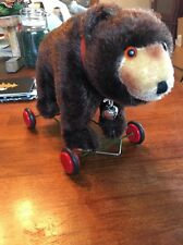 Vintage Bear Push Toy With Bell Marx Britain