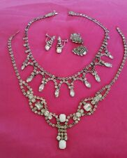 ♡ Genuine Vintage LOT of Rhinestone Jewellery All Wearable some Darkened Stones