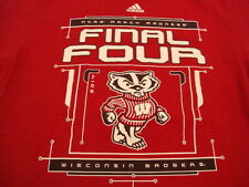 NCAA Wisconsin Badgers College University Basketball Final Four 2014 T Shirt L