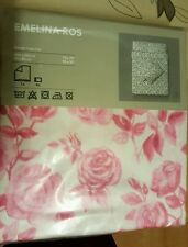BNIP IKEA Emelina  Ros Double Bed Quilt Cover with 4 Pillow Cases 100% Cotton