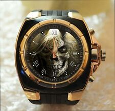 GOTHIC PENTAGRAM SKULL 100% UNIQUE Commando Army Style Chunky Sport Wrist Watch