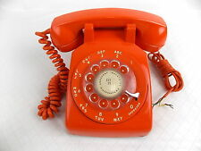 Vtg Stromberg Carlson Rotary Desk Telephone Model SC 500D Orange #3150
