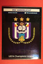 PANINI CHAMPIONS LEAGUE 2013/14 N. 206 BADGE ANDERLECHT BLACK BACK MINT!