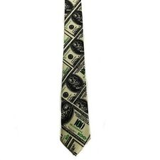 "Men Boy Unisex $$$ Dollars Benjamin Skinny Slim Retro Tie 2.5"" Wide Thin Necktie"