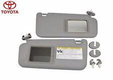 2006-2012 Toyota RAV4 Driver & Passenger Sun Visor Sunvisor Shade Set / GRAY