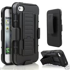 Hybrid Hard  Outer Box Case Cover w/ Stand Belt Clip Holster for iPhone 4 4s