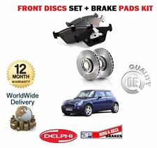 FOR BMW MINI ONE COOPER S 1.4DT 1.6 2001-2006 FRONT BRAKE DISCS SET + DISC PADS