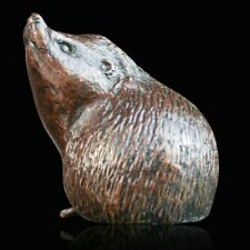 Small Hedgehog Alert Solid Bronze Foundry Cast Sculpture Michael Simpson (908)